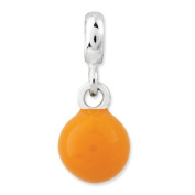 Sterling Silver Yellow Enamelled Bead Enhancer, Best Quality Free Gift Box Satisfaction Guaranteed