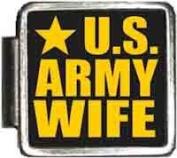 US Army Wife Italian Charm Bracelet Jewellery Link A10415