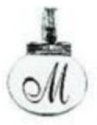 Ganz Initial Keyrings/Necklace - M