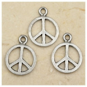 30pcs Tibetan Silver Peace Logo Charms 10mm ~Jewellery Making~
