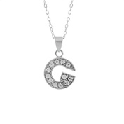 Charm Letter G Nickel Free Alloy Rhinestone Beads Necklace
