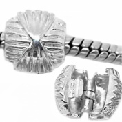 "Two(2) ""Weave""clip & Lock Beads Charm Fits European Pandora Troll Chamilia Biagi Kay Zable Compatible"