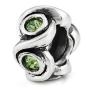 Ohm August BIRTHSTONE Yellow Green Peridot Crystal European Bead