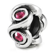Ohm October BIRTHSTONE Pink Tourmaline Crystal European Bead
