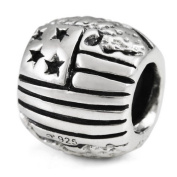 Ohm USA Flag/Map European Bead