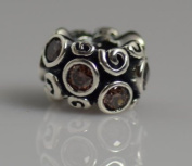 Authentic Pandora Charm 100% Sterling silve BROWN PRIMROSE PATH
