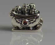 Authentic Pandora Charm 100% Sterling silve He Santa's sleigh