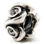 Ohm April BIRTHSTONE Clear Crystal European Bead