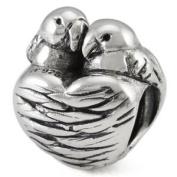 Ohm Love Birds European Bead