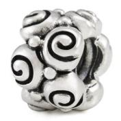 Ohm Spiral European Bead