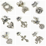 9 Different Pendant Set Per Lot,mixed Designs Charm Sets, Fashion Diy Scarf Jewellery Pendant Accessories