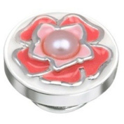 Kameleon Enamelled Pink Flower with Pearl Centre JewelPop * Jewelpop Authentic Silver New KJP625