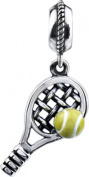 Kera Tennis Dangle in Sterling Silver - Fits Most Pandora Bracelets