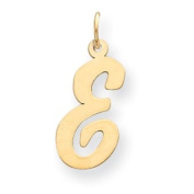 14k Yellow Gold Large Script Initial E Charm. Gold Wt- 0.55g.