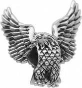 Persona Sterling Silver Soaring Eagle Charm fits Pandora, Troll & Chamilia European Charm Bracelets