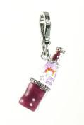Juicy Couture Grape Soda Bottle Purple Charm Jewellery