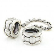 Ohm Stripe Safety Chain European Bead