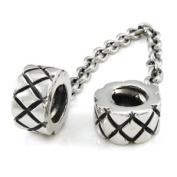 Sterling Silver Double XX European Bead