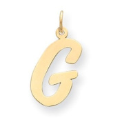14k Yellow Gold Large Script Initial G Charm. Gold Wt- 0.55g.