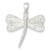 Sterling Silver Stellux Crystal Dragonfly Pendant. Metal Wt- 5g