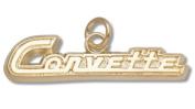 C1 Generation Corvette 1cm Script Logo Charm - Gold Plated Jewellery