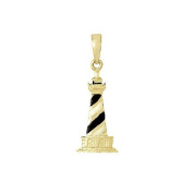 925 Solid Sterling Silver Necklace Charm Pendant, Cape Hatteras Lighthouse Ename