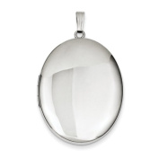 Sterling Silver Polished 34mm Oval Locket, Best Quality Free Gift Box Satisfaction Guaranteed