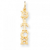 10k Yellow Gold 5-Lettered Talking Charm
