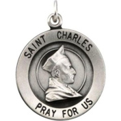 18.25mm St. Charles Medal in Sterling Silver