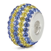 Sterling Silver Sport Team Colours European Bead