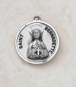 Sterling Silver St. Bernadette with 46cm Chain.