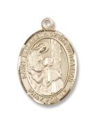 Gold Filled St. Elizabeth of the Visitation Pendan