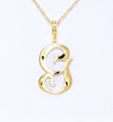 "14K Yellow Gold Initial ""G"" Charm"