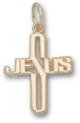 Jesus Cross 1.6cm Charm- 10KT Gold Jewellery