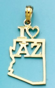 "Gold Charm Arizona State I ""heart"""