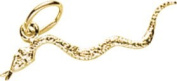 Rembrandt Charms Snake Charm, 10K Yellow Gold