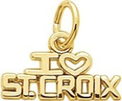 Rembrandt Charms St. Croix Charm, 10K Yellow Gold