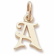Rembrandt Charms Letter A Charm, 10K Yellow Gold