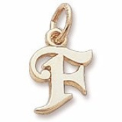 Rembrandt Charms Letter F Charm, 10K Yellow Gold
