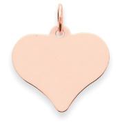 14k Rose Gold Heart Disc Charm