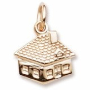 Rembrandt Charms, House Charm, 10K Yellow Gold, Engravable