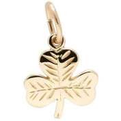 Rembrandt Charms Shamrock Charm, 10K Yellow Gold