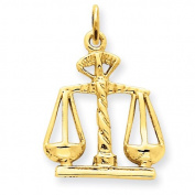 14k Scales Of Justice Charm