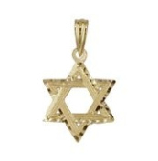 18kt Yellow Gold Mini Star of David