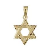 18kt Yellow Gold Mini Star of David