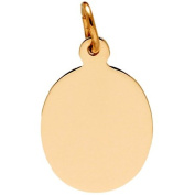 Rembrandt Charms Oval Disc Charm, 10K Yellow Gold