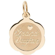 Rembrandt Charms Granddaughter Charm, 10K Yellow Gold