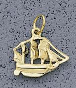 "Small ""Sailboat"" Charm - 10KT Gold Jewellery"