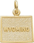 Rembrandt Charms Wyoming Charm, 10K Yellow Gold