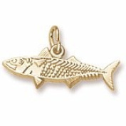 Rembrandt Charms Mackerel Fish Charm, 10K Yellow Gold